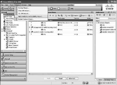 Configuring Active Standby Failover on the Cisco ASA