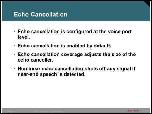 Example Voice Port Tuning - IP Telephony - Cisco Certified