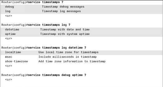 Service Timestamps Cisco